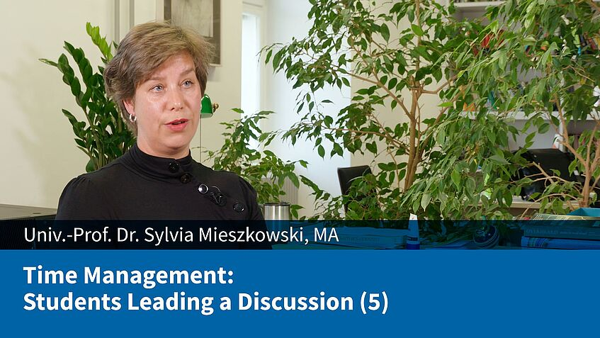 Time Management: Students Leading a Discussion (5) (Sylvia Mieszkowski)