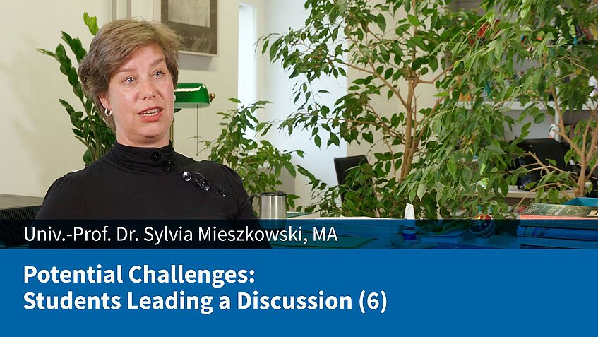 Potential Challenges: Students Leading a Discussion (6) (Sylvia Mieszkowski)